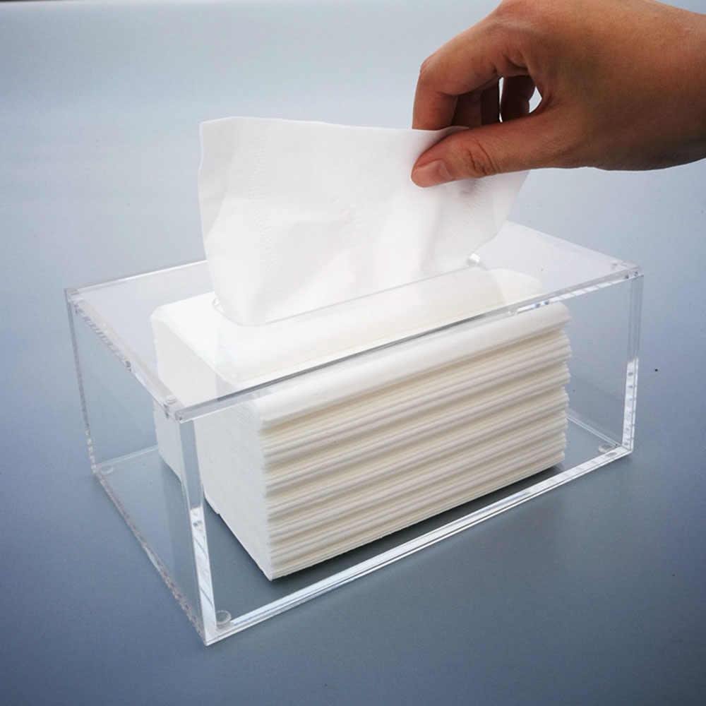 Ktv Hotel Fashion Serbet Kotak Penyimpanan Transparan Plastik Persegi Panjang Akrilik Tissue Kotak Serbet Pemegang 2019 Terbaru Mobil Tray