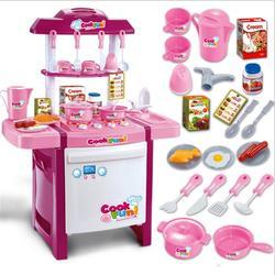 Speelhuis speelgoed 25 soorten servies fittings Aankomst Kind Classic Fantasiespel imiteren chef Keuken Set Speelgoed KOK FUN meisje gift