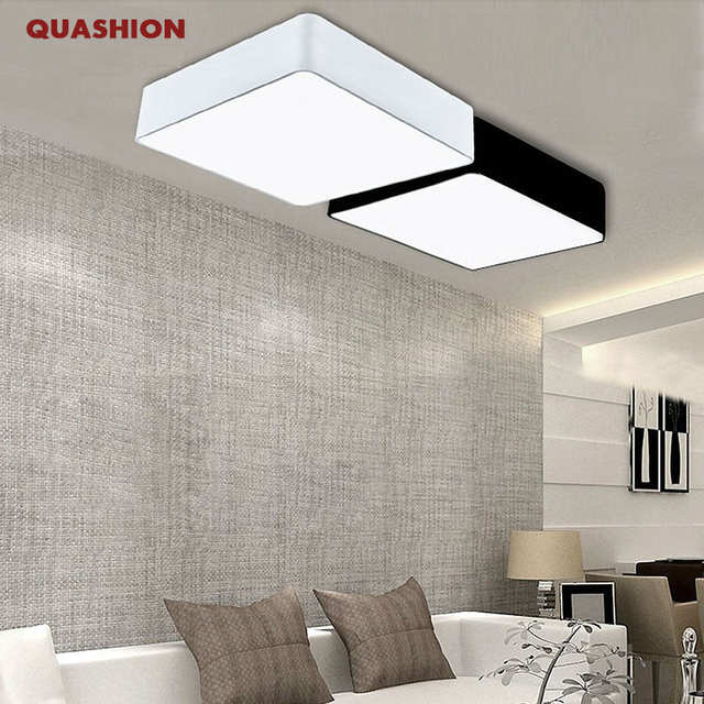 US 44040 Modern Minimalism Rectangle DIY Led Ceiling Lights For Living Room Bedroom Hallway Home Lamp Decoration Lighting Fixturesin Ceiling Lights Enchanting How To Get Rid Of Spiders In Bedroom Minimalist Decoration
