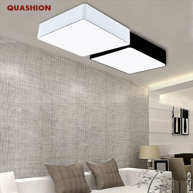 Moderne Minimalismus Rechteck DIY Führte Deckenleuchten Für Wohnzimmer  Schlafzimmer Flur Hause Lampe Dekoration Leuchten