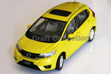 *New Diecast Model Yellow 1:18 Honda Fit Hatchback 2014 Car Alloy Toy