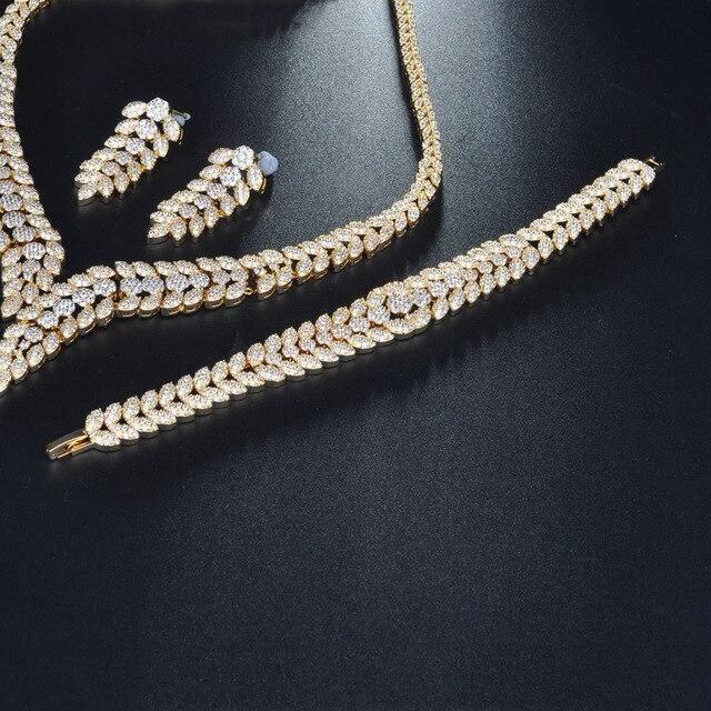 Роскошные блестящие наборы ювелирных изделий be 8 из фианита