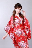 Shanghai Story hot sale Vintage Japanese Style Dress Japan Women's Silk Satin Kimono Yukata Evening Dress 3 color H0044