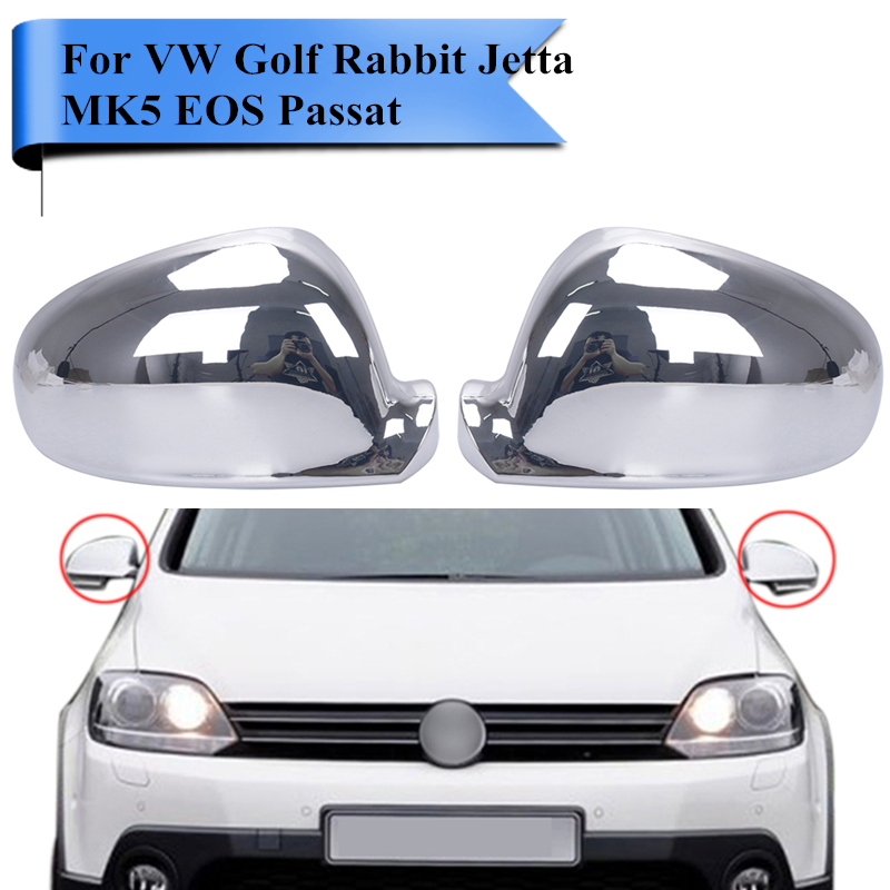 Volkswagen Cabrio Rearview Mirror Rearview Mirror For: 2x Chromed Rearview Mirror Covers Side Door Mirror Cap For