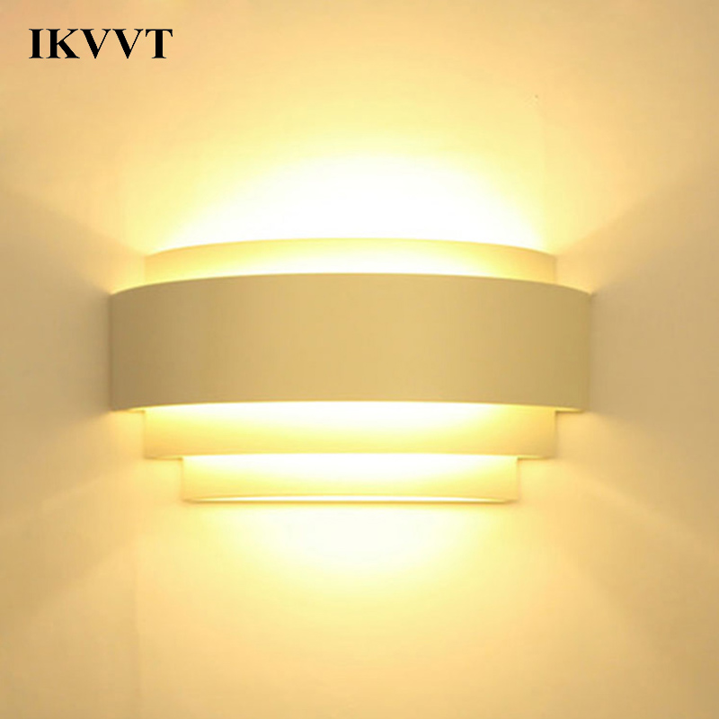 IKVVT Wall Lamp Inimalist Modern Living Room Bedroom Wall Lamp Bedside Lamp Creative Personality Led Aisle Corridor Light modern minimalist 9w led acrylic circular wall lights white living room bedroom bedside aisle creative ceiling lamp