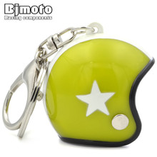 BJMOTO Helmet Keychain Cool Car Motorcycle Key Chains Mini Cute Pendant For Harley Sportster Gift Jewelry  29%off