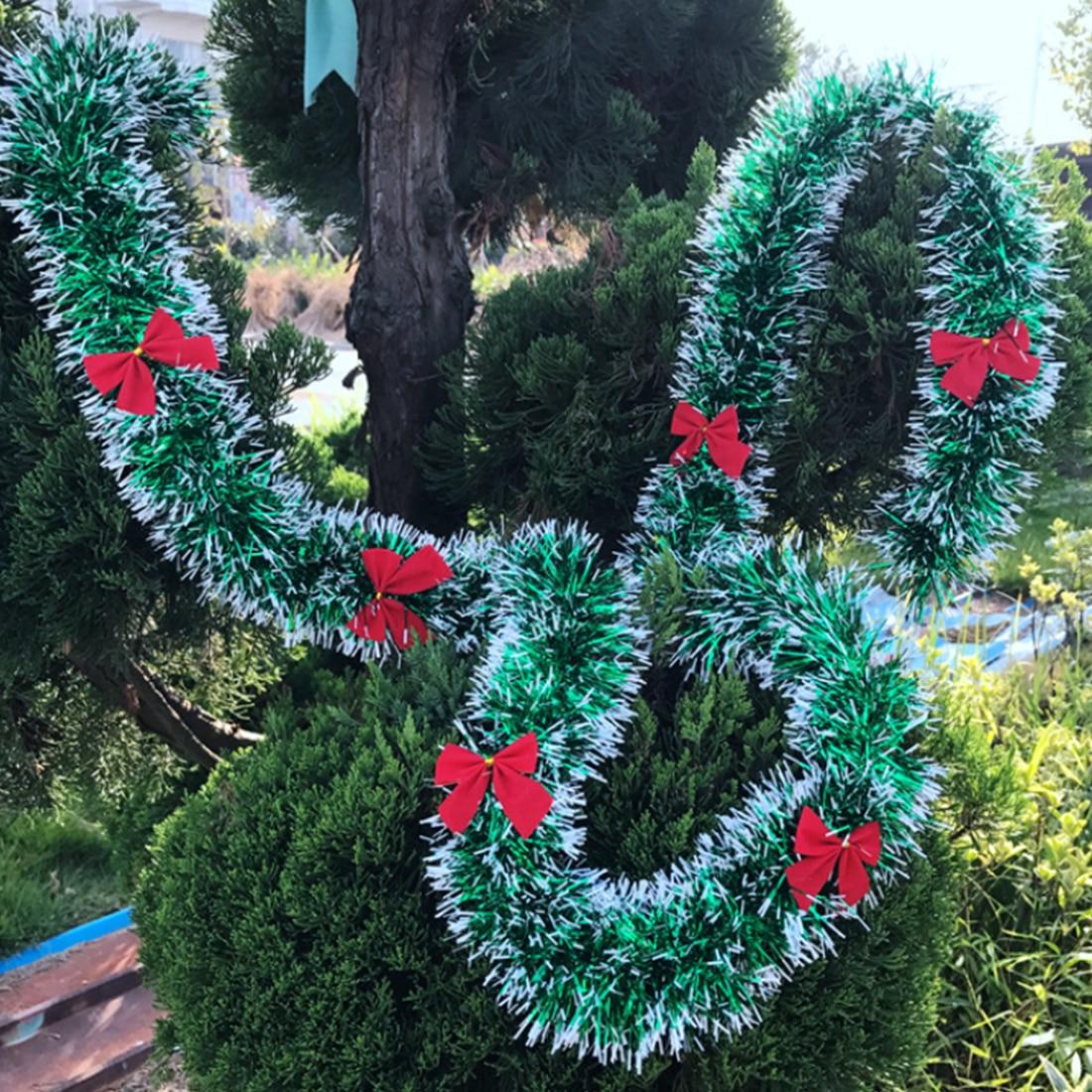 New2M Colorful Christmas Decoration Bar Tops Ribbon