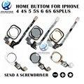 Mejor calidad aaa botón de inicio con flex cable de repuesto de la asamblea para iphone 6 s 4.7 6 s plus 3 colores