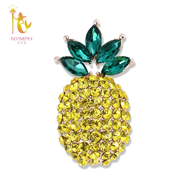 [NYMPH] Simple and stylish Brooch For Women Fine Jewelry Pineapple Brooch For Wedding Bouquets Fine jewelry B102