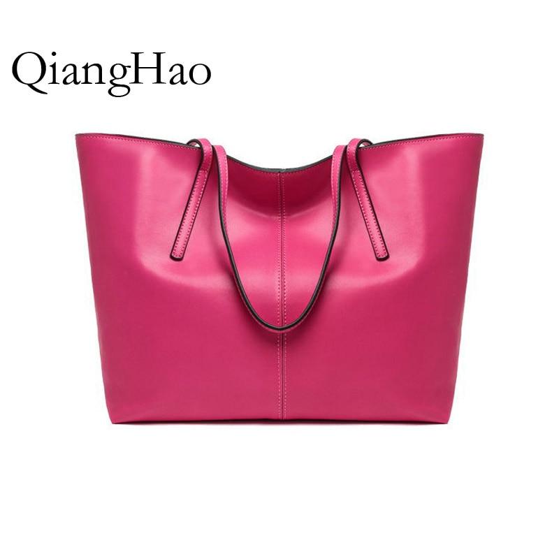 ФОТО QiangHao ! Hollow Out Large Leather Tote Bag 2017 Luxury Women Shoulder bags, Fashion Women Bag Brand Handbag Bolsa Feminina