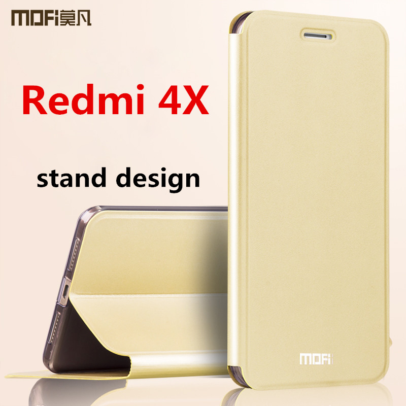 Xiaomi Redmi 4x case cover MOFi original Redmi 4x pro cover leather back protection silicon phone capas Redmi 4x flip case 5.0