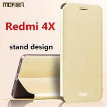 Xiaomi Redmi 4x чехол Флип кожаный Redmi 4x задняя крышка силиконовый Жесткий защиты MOFI оригинальный Xiaomi Redmi 4x Pro Чехол 5.0