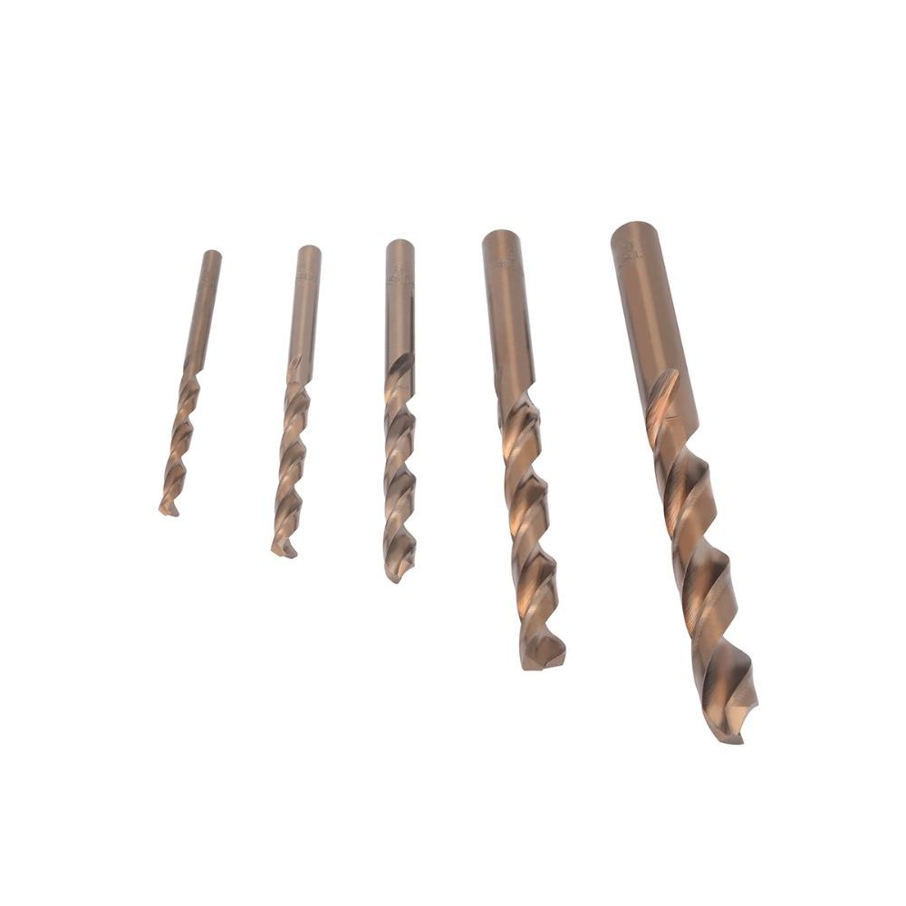 5stk / set koboltbor Hög-hastighet stål HSS-CO vridborruppsättning - Borr - Foto 1