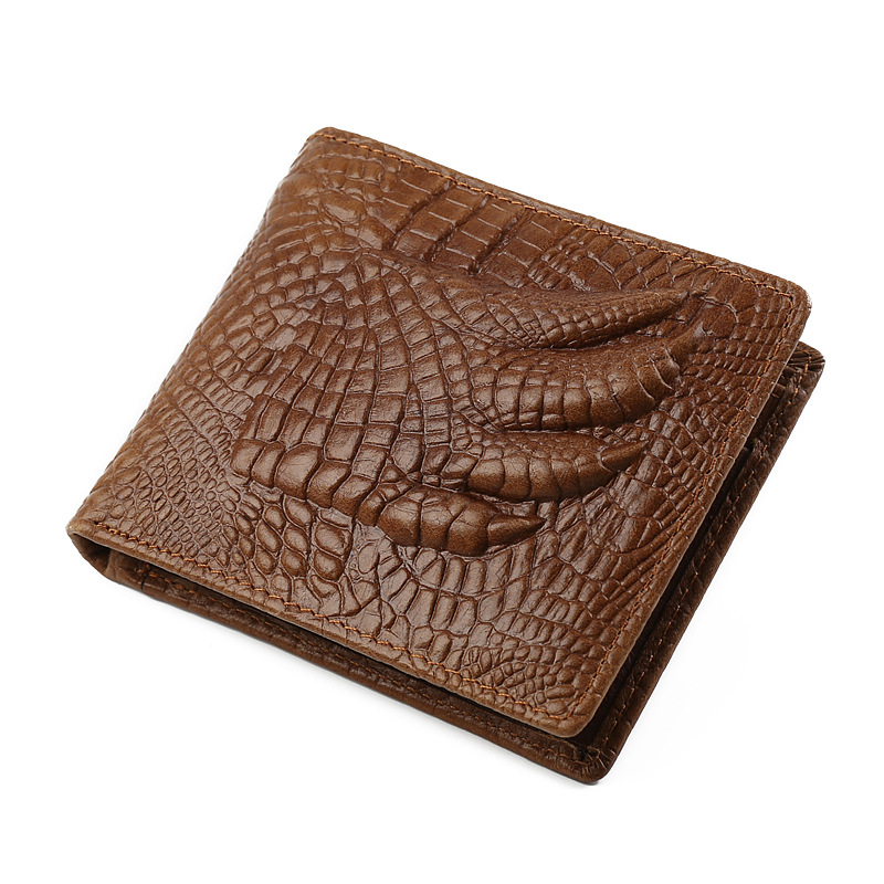 New Arrival Crocodile Paw Cow Leather Wallets Men 2017 Genuine ...