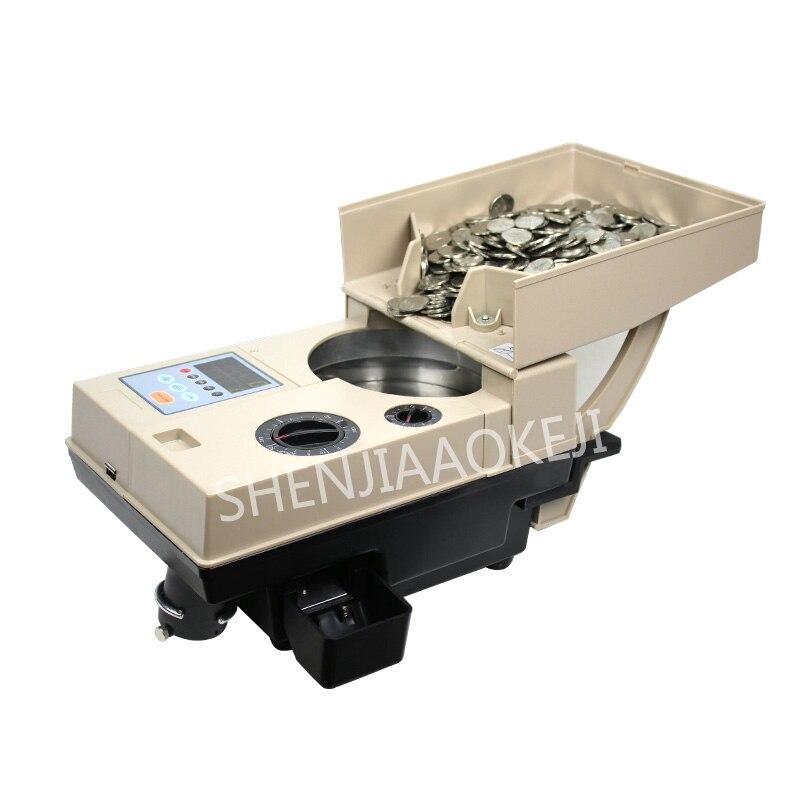 Compteur de pièces de monnaie à grande vitesse de YT-518 220 V/110 V trieur de pièces de monnaie de jeu capacité de la machine de comptage de 2000 pièces