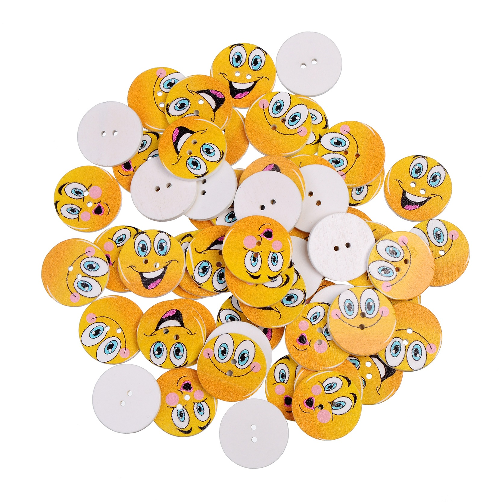 Visages Tige Boutons Taille 25 mm