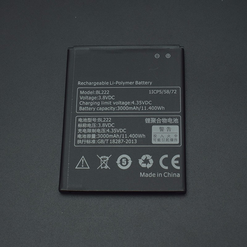 For Lenovo S660 Battery Bl222 3000mah Large Capacity Li Ion Battery