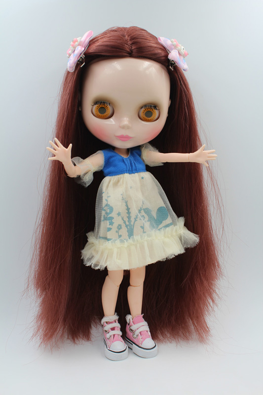 Free Shipping BJD joint RBL-201J DIY Nude Blyth doll birthday gift for girl 4 colour big eyes dolls with beautiful Hair cute toy free shipping cheap rbl no 1 7 diy nude blyth doll birthday gift for girls 4 colour big eyes dolls with beautiful hair cute toy