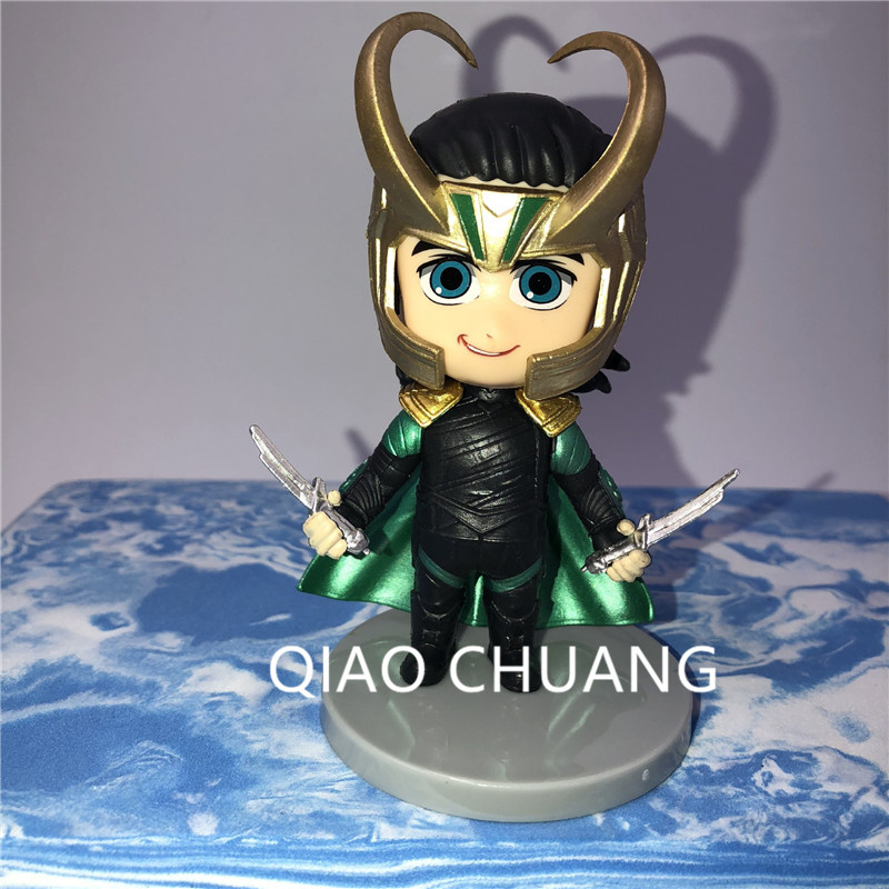 Avengers:Infinity War Supervillain Dark Magic Loki Laufeyson Q Version PVC Action Figure Model Toy G1178