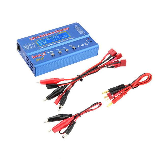 Alta Calidad iMAX B6 Lipo NiMh Ni-cd Li-ion RC Balance de la Batería del Cargador Descargador Digital 80 W