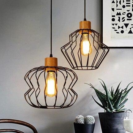Nordic Modern Black Wire Droplight American Metal Pendant Lights Fixture Home Indoor Dining Room Lighting Restaurant Hang Lamp