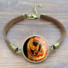 Hunger Games Glass Charm Bracelet
