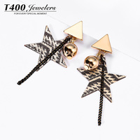 New Arrival T400 20175 Fashion Female Korean Style Ear Ring Hot Sell Multi Tassel Earrings