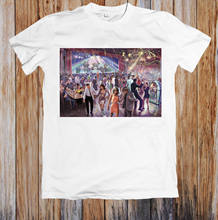 1960'S DANCE SCENE RETRO POSTER UNISEX T-SHIRT white black grey red trousers suit hat pink t-shirt RETRO VINTAGE Classic t-shirt(China)