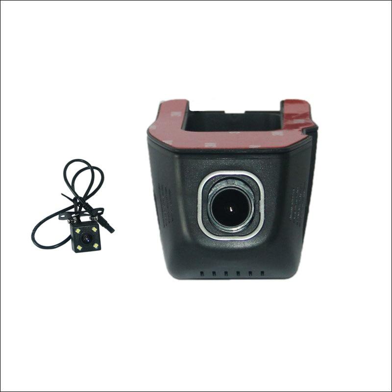 BigBigRoad Car Wifi DVR For Honda Civic 2014 Car Video Recorder Dash Cam Novatek 96655 Dual Camera FHD 1080P Car Black Box jasco car dash cam novatek 96655 sony imx322 wifi 1080p car dvr registrator video recorder camera dashcam hidden mini camera