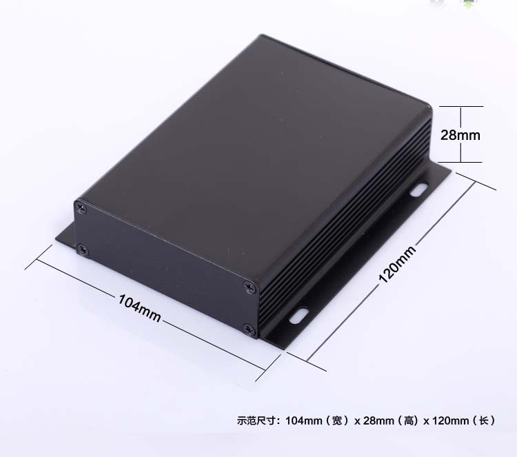 New 104*28*120mm Aluminum enclosure DIY PCB project box power shell case electronics enclosure panel mounting type NEW wholesale aluminum enclosure for pcb power shell electric project box diy 80 35 100 3 15 x1 38 3 93 wxhxl mm new wholesale