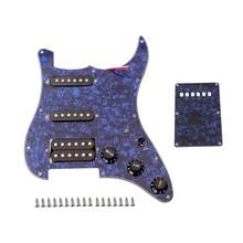 Conjunto Pickguard 1 Resistente Principal Conjunto Fender Captadores SSH Pickguard Loaded Metal Durável Para Instrumento Musical Guitarra Baixo(China)