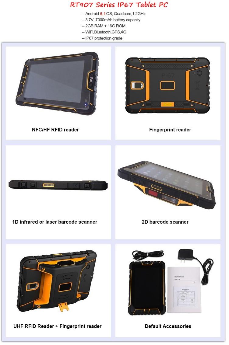 Ao Toque Celular Robusto IP67 Handheld NFC