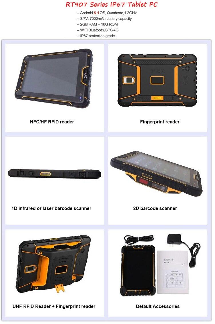 Barras RFID UHF PDA terminal de dados