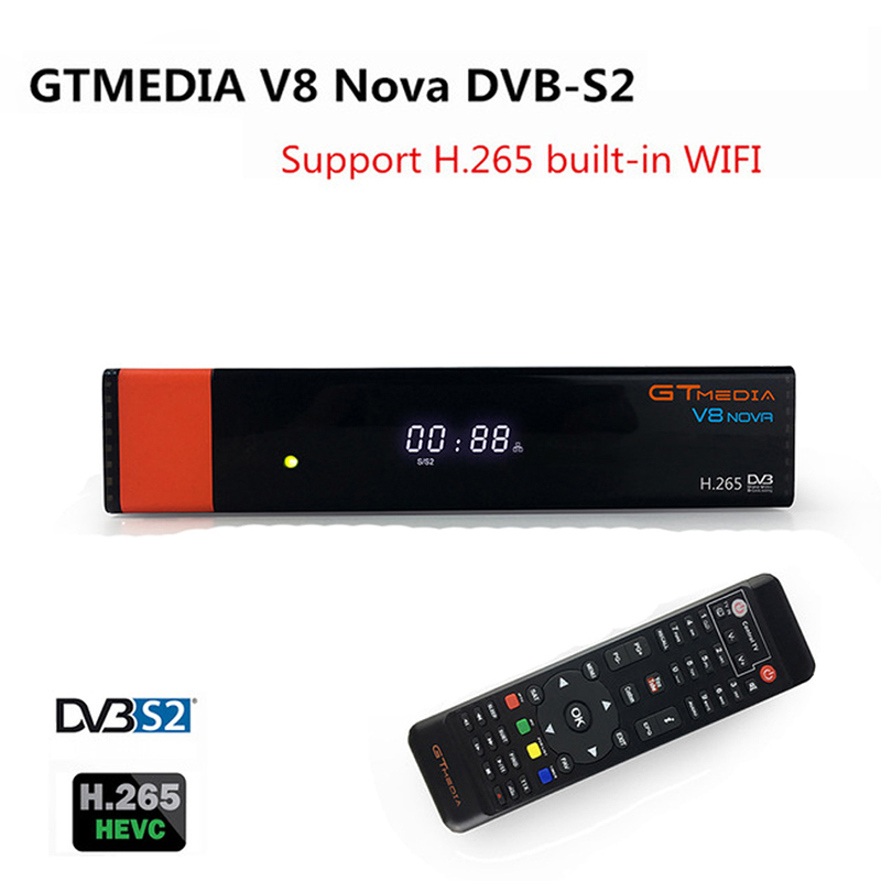 Gtmedia V8 Nova Built wifi DVB-S2 Freesat V8 Super Satellite TV Receiver gt media v8 nova receptor Free sat V8 upgrade version цена 2017