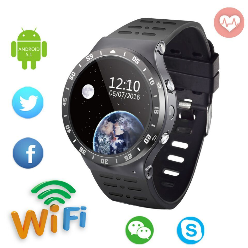 Fashion GPS Men Watch S99A 3G WiFi Smartwatch Phone 1.33'' Android 5.1 2.0MP Camera Heart Rate Bluetooth Smart Watch PK KW88 smart phone watch 3g 2g wifi zeblaze blitz camera browser heart rate monitoring android 5 1 smart watch gps camera sim card