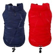 Зимняя одежда для домашних собак, кошек, мягкий жилет, пальто для щенков, теплый пуховик из флиса и полиэстера, водонепроницаемая куртка для чихуахуа, французского бульдога
