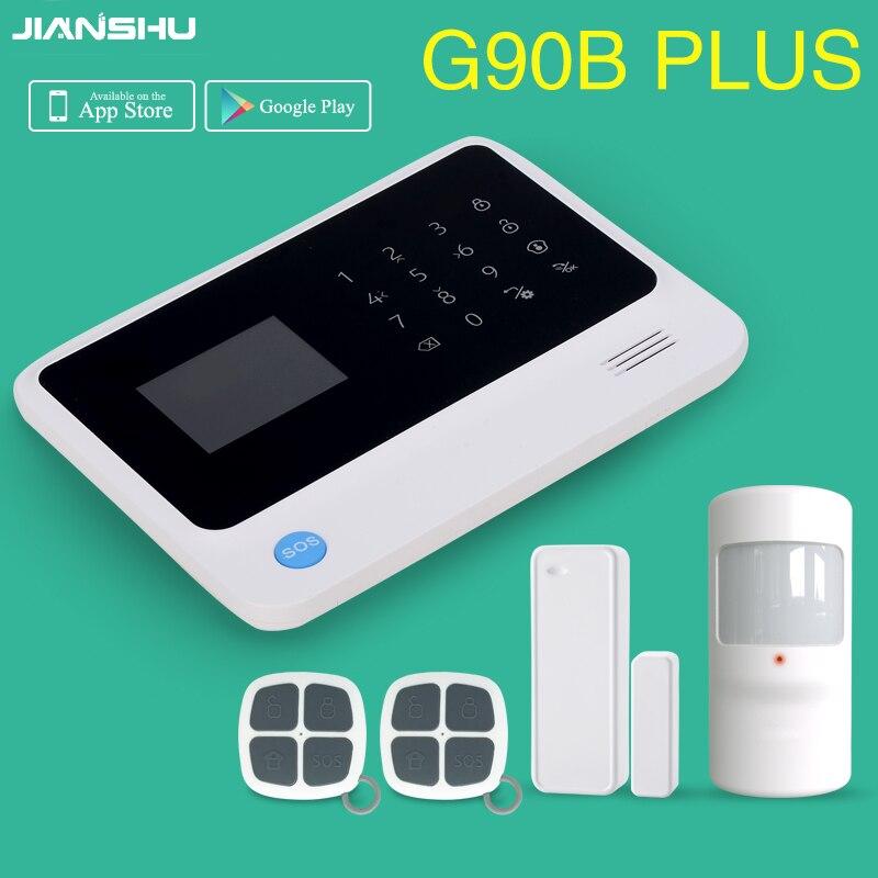 433 mhz écran lcd tactile clavier wi-fi gsm panneau d'alarme G90B plus Android/IOS APP alarme de contrôle gsm wifi de sécurité à domicile d'alarme