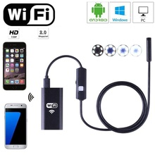 2m 8mm Lens 6 LED Wifi Endoscope Snake Tube Borescope Inspection Mini Camera for Android iOS Phone Tablet Laptop PC