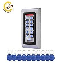 XJQ 125 кГц, IP68 водонепроницаемый металлический чехол RFID Бесконтактная карта клавиатура система контроля доступа 2000 пользователей автономный дверной контроль доступа