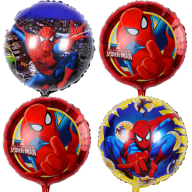 1 pcs 45*45 cm Spiderman Balões Folha Hélio ballon Decoração de Aniversário da criança Balão Crianças Brinquedos do Partido Bebê Menino balões de ar
