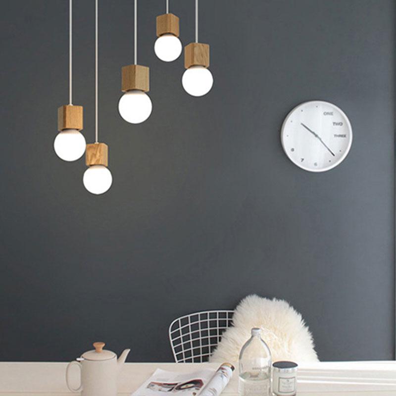 Liberaal Vintage Opgeschort Led Plafond Verlichting E27 3 W Ac100-240v Hout Metalen Hang Lamp Woondecoratie Lampen Thuis Koffie Bar