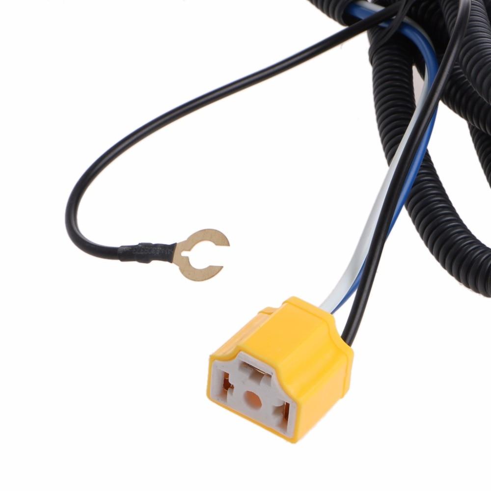 H4 Headlight Fix Dim Light Relay Wiring Harness System 2 Headlamp Light on
