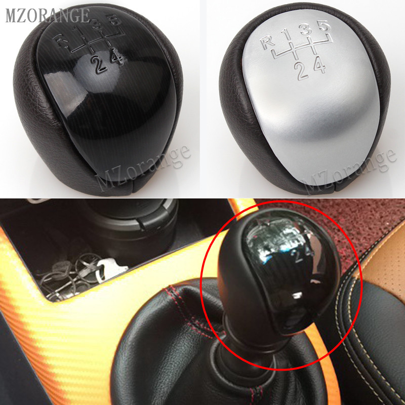 MZORANGE 5 Speed Car Styling Manual Gear Shift Knob Shifter Lever Head Handball Case for Kia Forte Soul FOR Hyundai Elantra I30