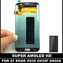 AMOLED HD LCD De Repuesto Para Samsung Galaxy S7 Borde G935 G935F G935A G935FD G935P Pantalla LCD Táctil Digitalizador Asamblea
