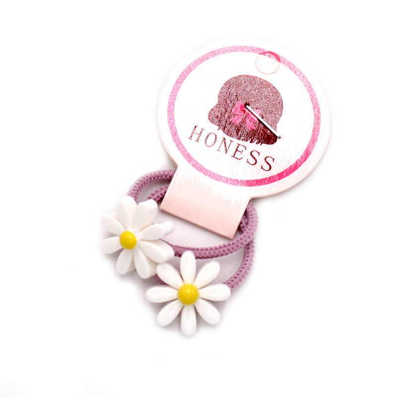 2 3 centímetros unidades/pacote Meninas Dos Desenhos Animados Mini Elástico Flor Princesa Headwear Crianças Mantilha Crianças Elastic Faixa de Cabelo Acessórios Para o Cabelo