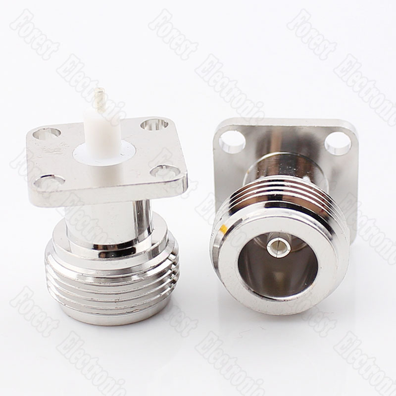 100pcs lot 17 5 17 5 N KFD 5 RF Coaxial Connector N Type Flange Connector in Connectors from Lights Lighting