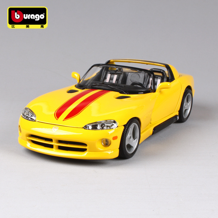 Bburago Dodge  VIPER RT 1:18 Scale Car Model Alloy Toys Diecasts & Toy Vehicles  Collection Boys Gift bburago 360 challengr 1 24 alloy car model toys diecasts