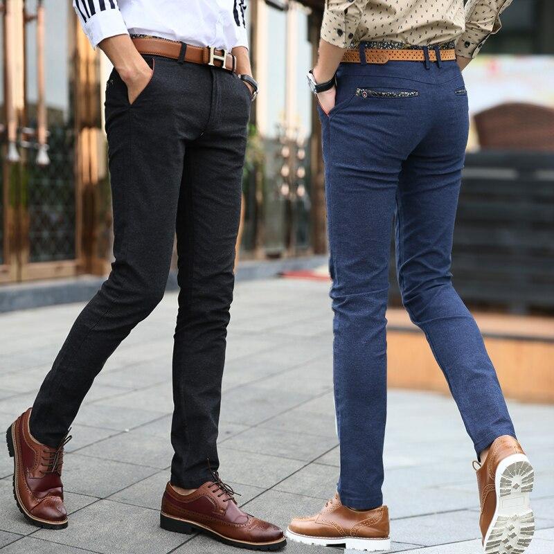 2018 Fashion Autumn Casual Slim Fit Cotton Men Pants Noniron Classic BusinessTrousers Male Casual Pants work suit