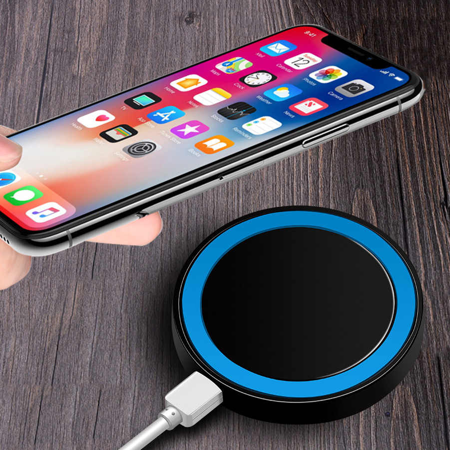 Mini cargador inalámbrico Qi cargador USB para iPhone X 8 8 Plus Samsung Galaxy S7 S6 Edge S8 plus Nota 5 8 para Nokia LG