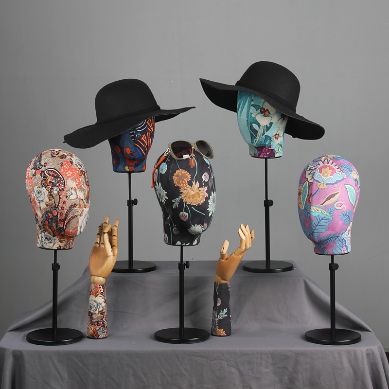 Mode Style meilleure offre spéciale tête d'affichage Mannequin tissu tête modèle personnalisé